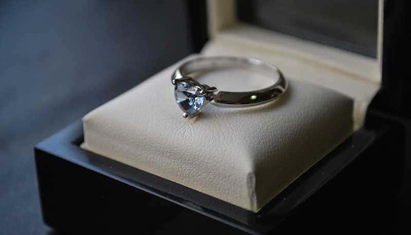 Memorial Diamond Heart Ring